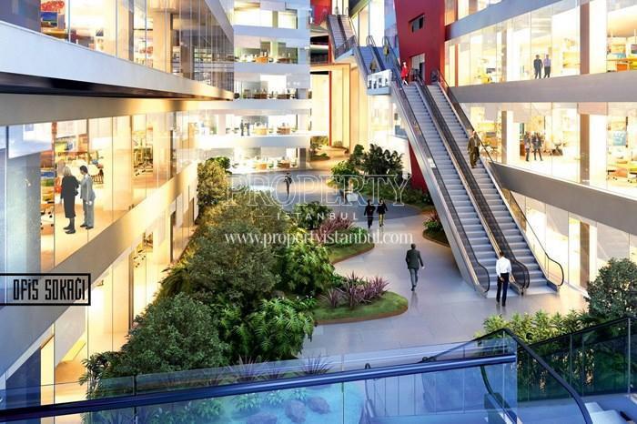 The inside of the shopping center in 42 Maslak