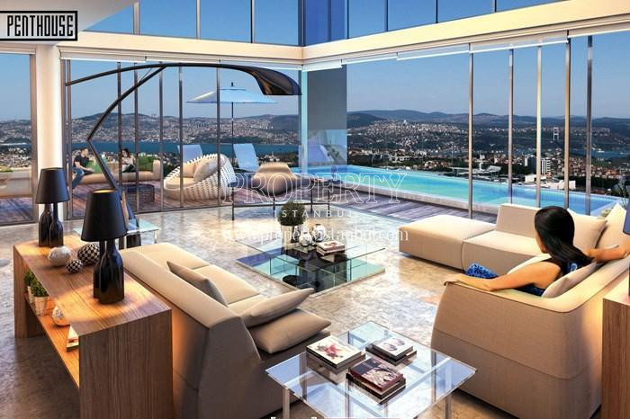 The women sitting in her penthouse apartment in 42 Maslak