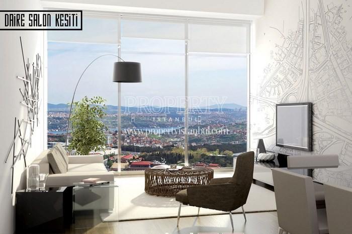 Small living room having the Bosphorus view in 42 Maslak