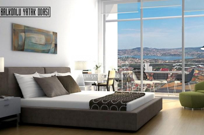 The master bedroom having balcony in 42 Maslak