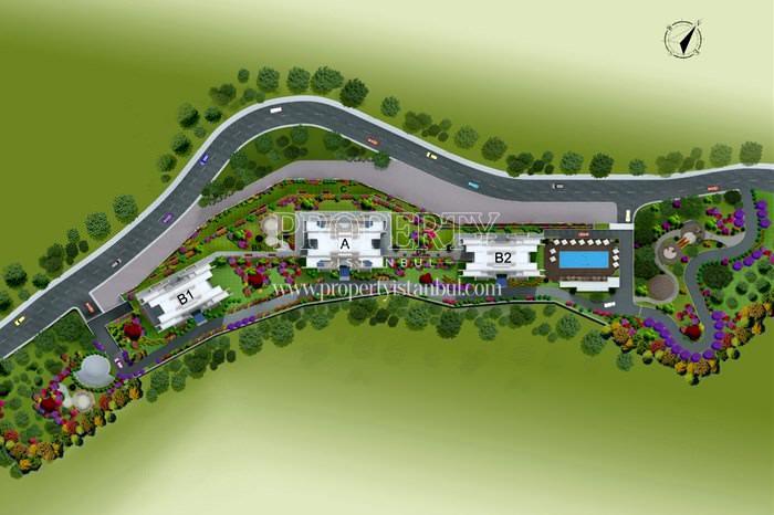 The layout plan of Agaoglu My Home Kucuk Maslak