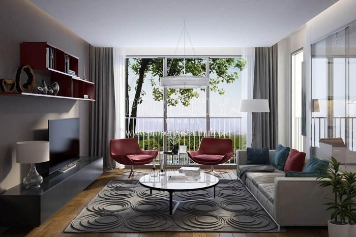 One of the living rooms in Arti Tarabya