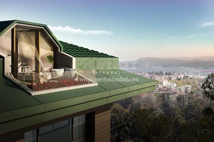 Bosphorus view from Arti Tarabya homes