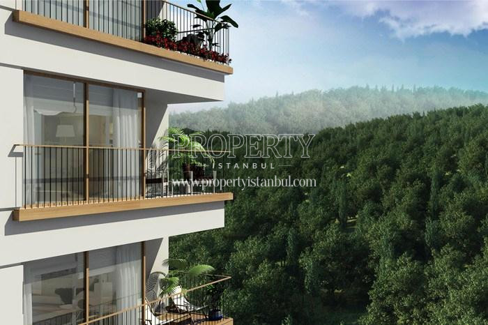 The apartments having forest view in Arti Tarabya