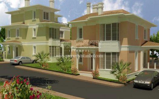 Colorful villas in City Court Bahcesehir