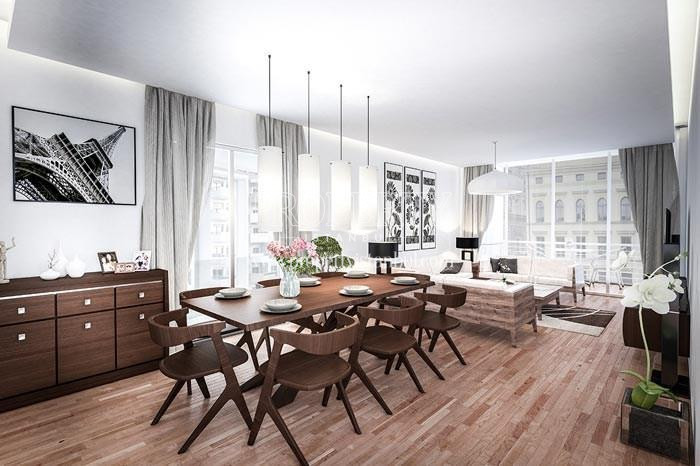 One of the living rooms in Elysium Apartments Lale