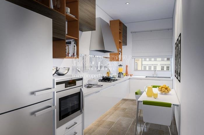 One of the kitchens in Elysium Apartments Lale