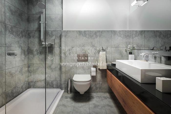 The bathroom in Elysium Apartments Lale