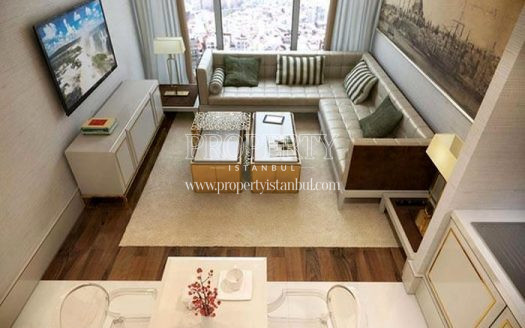 The panoramic view of the apartment in Elysium Art Sisli
