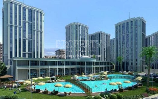 The landscape areas of Istanbul Prestij Park