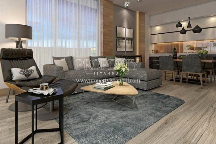 One of the living rooms in Tarabya Life