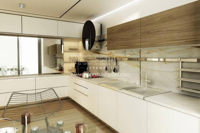 Spacious kitchen in Therra Park Tarabya
