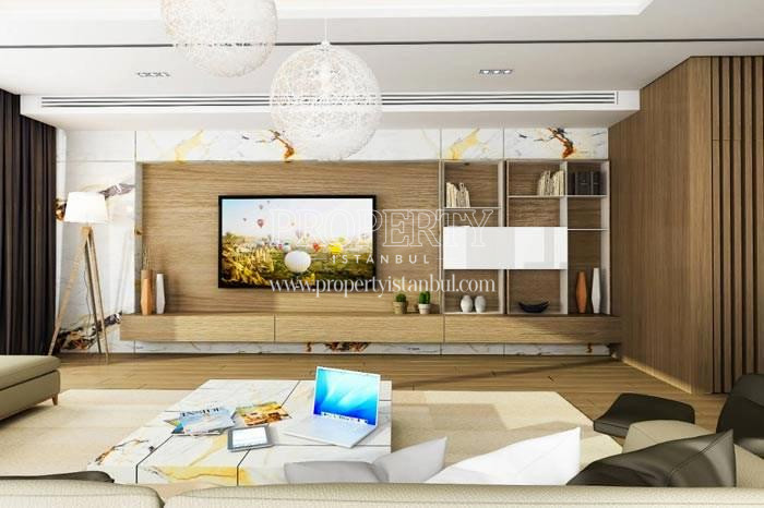 One of the living rooms in Therra Park Tarabya