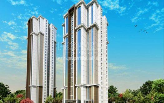 Two towers in Vaditepe Bahcesehir