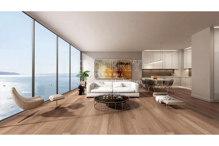 One of the living rooms in Yedi Mavi