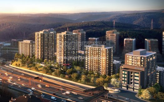 Avangart Istanbul project and E-80 higways