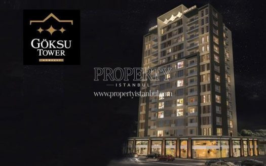 Goksu Tower building at night