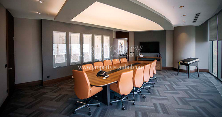 The meeting room in Spine Tower