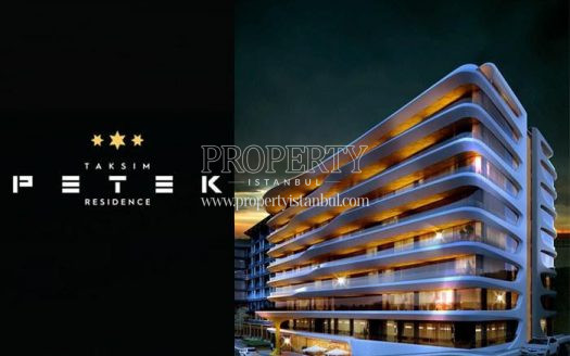 Taksim Petek Residence building at night
