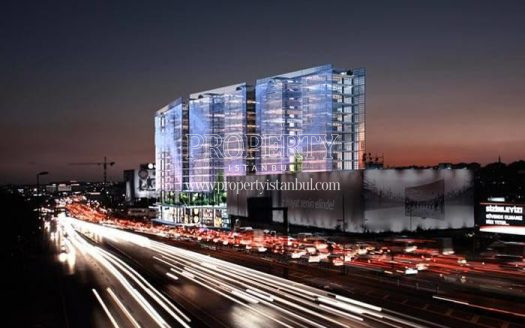 The Istanbul Merter Office project at night