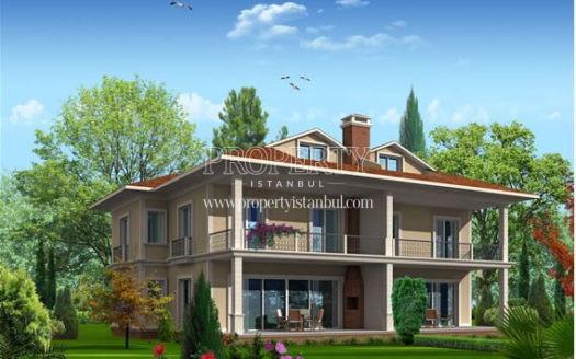 A villa in Aktas Gumusyali Villalari