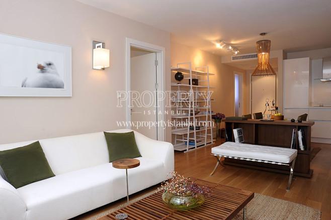 The living room in Bomonti Apartman