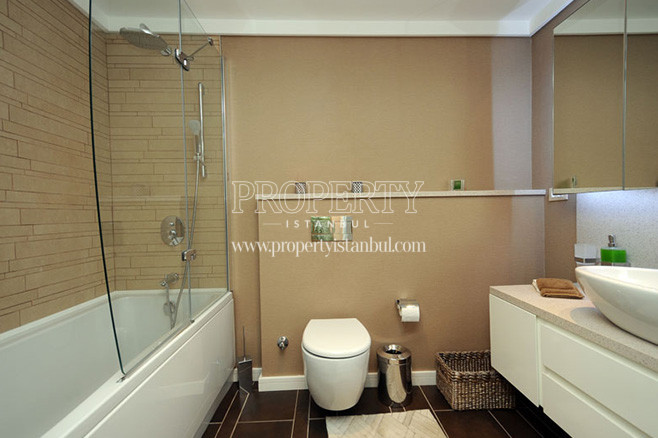 The bathroom in Bomonti Apartman