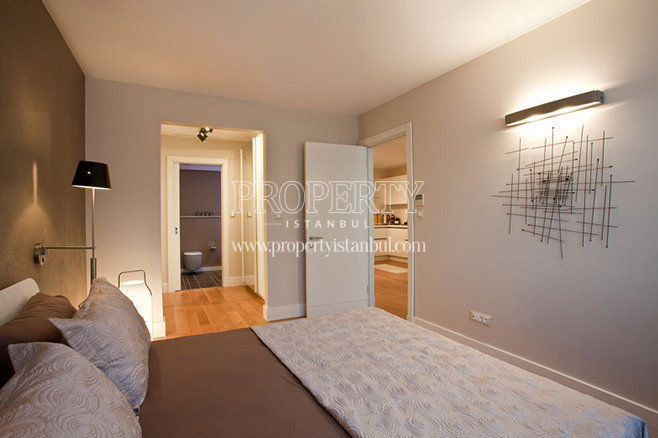 The bedroom in Bomonti Apartman houses
