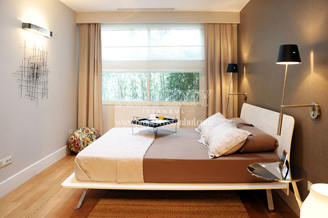 The bedroom of Bomonti Apartman project