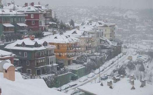 Goksu Evleri when it snowing