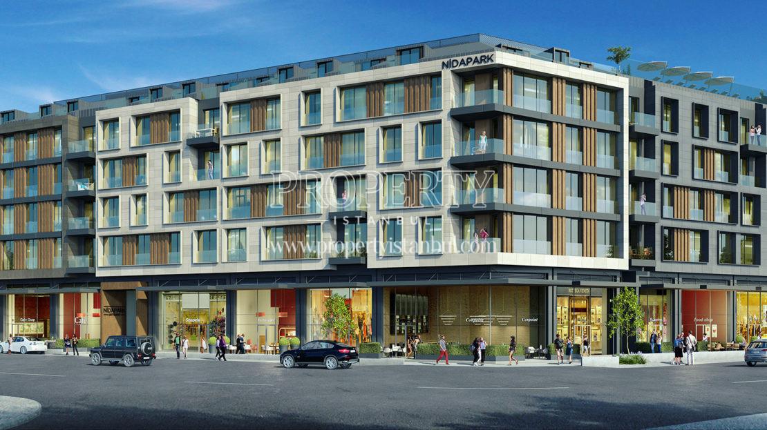 Nidapark Ayyildiz building from the corner