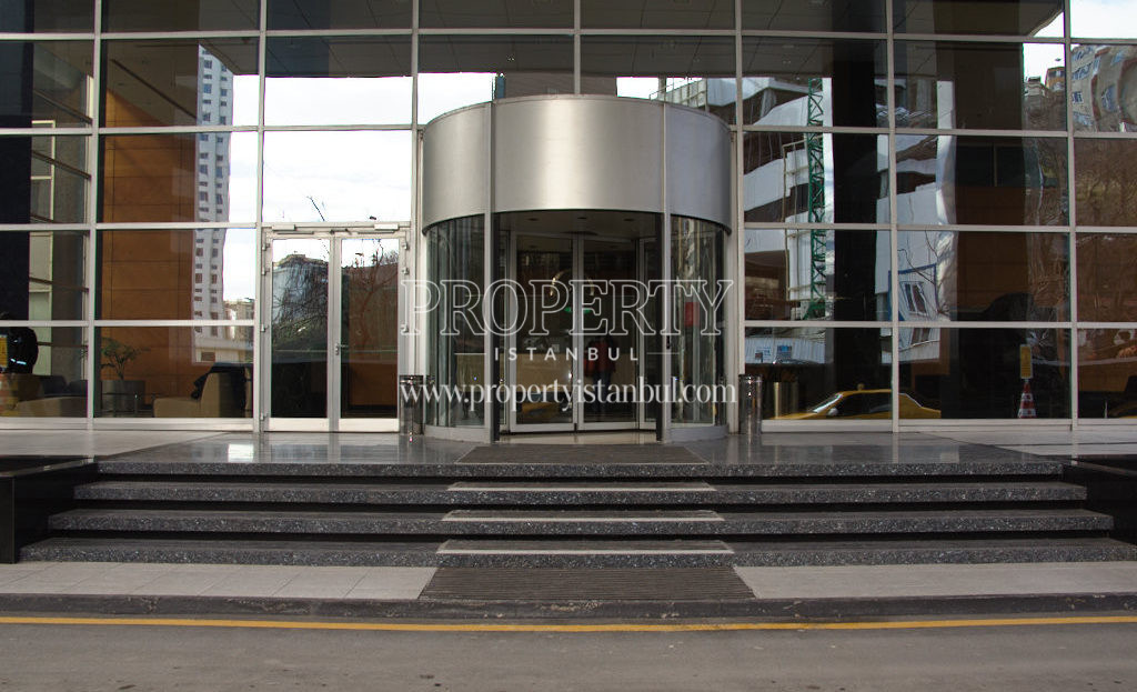 The entrance of Polat Tower Residence