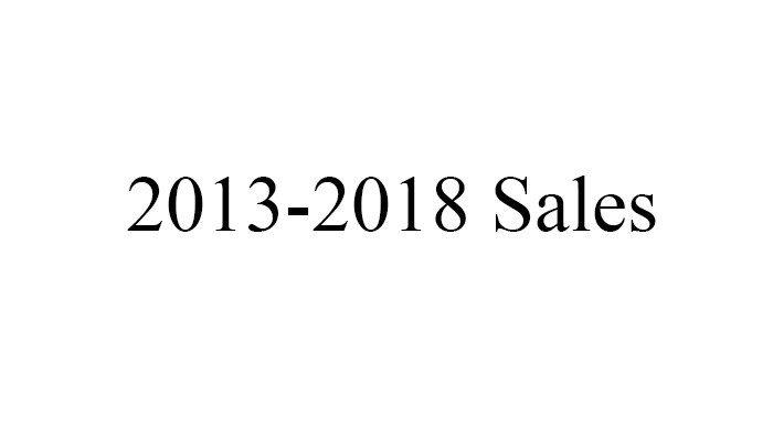 2013-2018 Sales