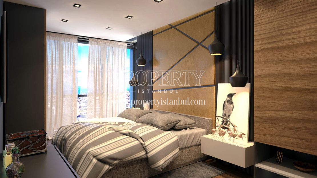 One of the bedrooms in Net Levent