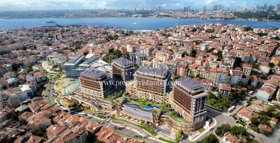 The panaromic view of Nevbahar Istanbul with Uskudar