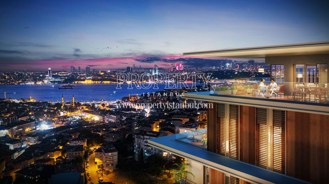Bosphorus view from Nevbahar Istanbul terrace
