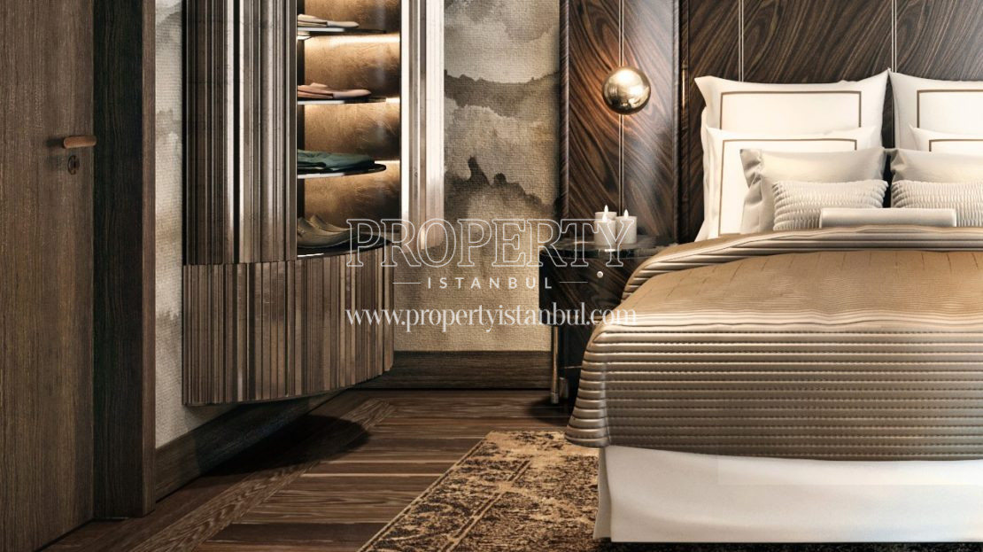 One of the luxury master bedrooms in Cer Istanbul