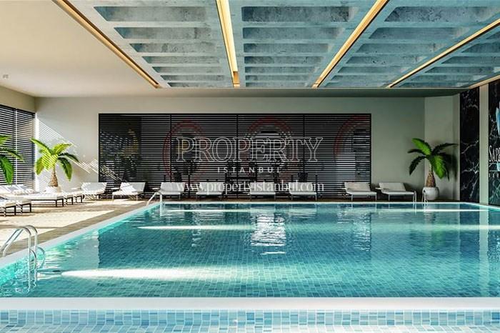 The indoor swimming pool of Sapphire Hill Kurtkoy