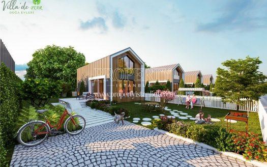 A house and its garden in Villa de PIAR Doga Evleri